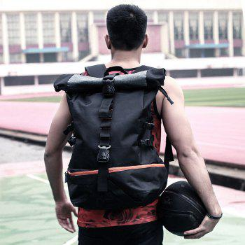 New Men'S Sports Wind Large Capacity Solid Color Backpack - BLACK