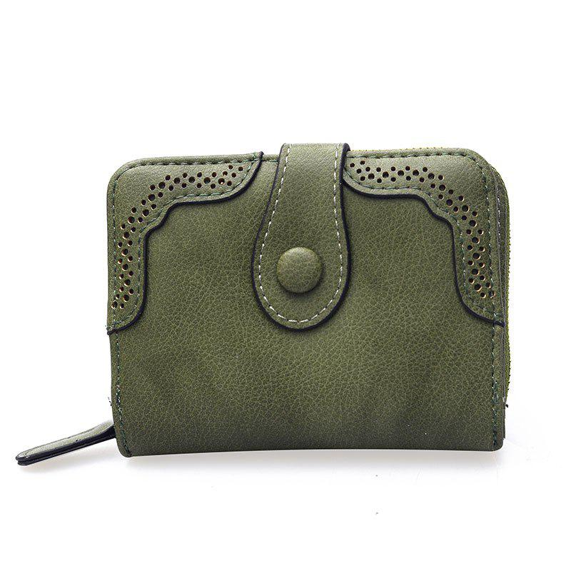 Hollowed Ladies Purse Multi-functional Wallet - GREEN