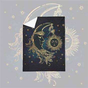 Active Printing and Dyeing Sun Moon Series Bedding Set Three and Four Pieces AS25 - BLACK GOLD FULL