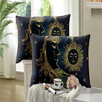 Active Printing and Dyeing Sun Moon Series Bedding Set Three and Four Pieces AS25 - BLACK GOLD QUEEN
