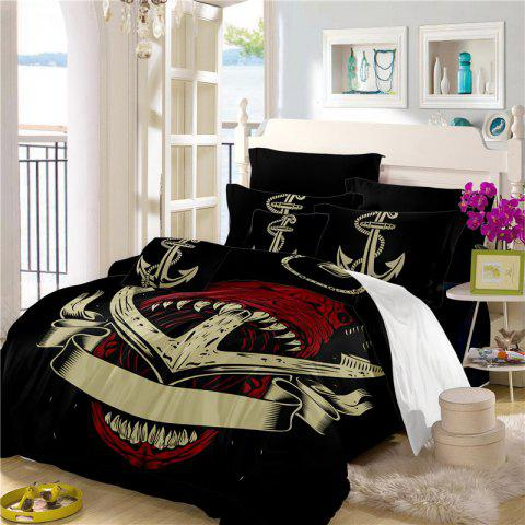 Sea Island Shark Ship Anchor 3D Series Bedding Set Three and Four Pieces AS26 - COLORMIX FULL