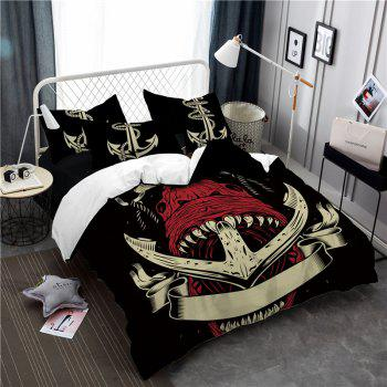 Sea Island Shark Ship Anchor 3D Series Bedding Set Three and Four Pieces AS26 - COLORMIX EURO KING