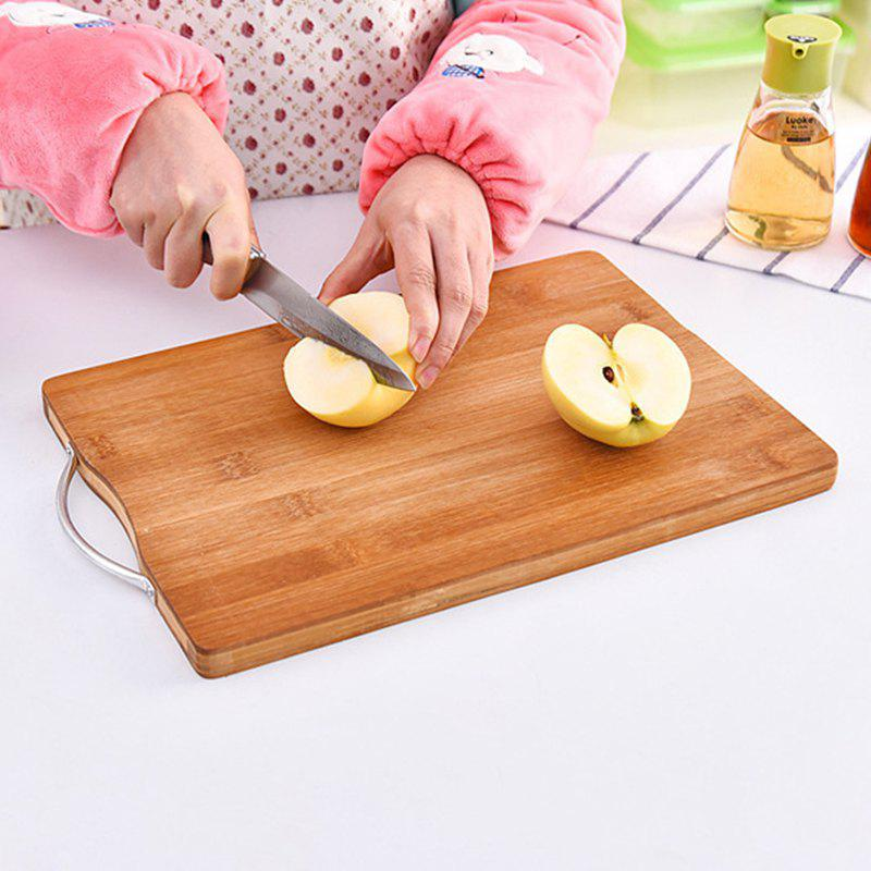 Knives Plate Whole Bamboo Cutting Board - BROWN