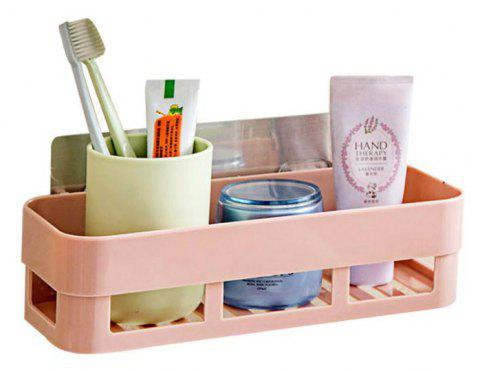 Strong Non Scar  Kitchen   Rack Storage  Bathroom Corner Storage Box - PINK