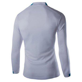 2018 Autumn and Winter New Men Casual Long-Sleeved Sports T Shirt - COLOUR L