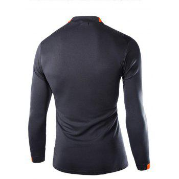 2018 Autumn and Winter New Men Casual Long-Sleeved Sports T Shirt - DARK GRAY L