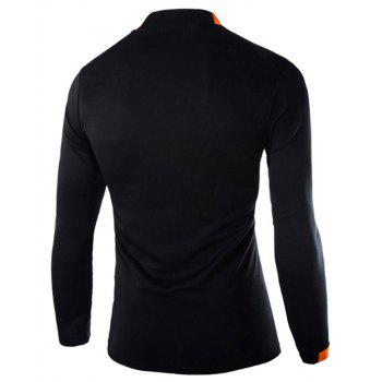 2018 Autumn and Winter New Men Casual Long-Sleeved Sports T Shirt - BLACK XL