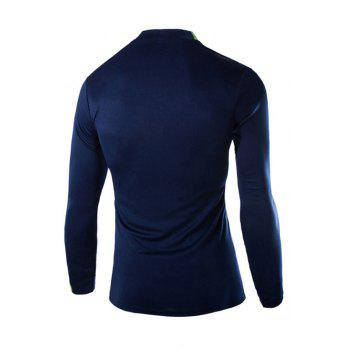2018 Autumn and Winter New Men Casual Long-Sleeved Sports T Shirt - BLUE 2XL