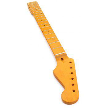 Electric Guitar Neck 21 Fret Maple Wood for ST Parts Replacement Surface - YELLOW