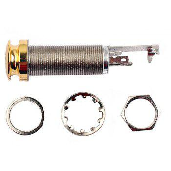 6.35mm 1/4 Inch Copper Material Guitar Endpin Stereo Output End Pin Jack Socket Plug - GOLDEN