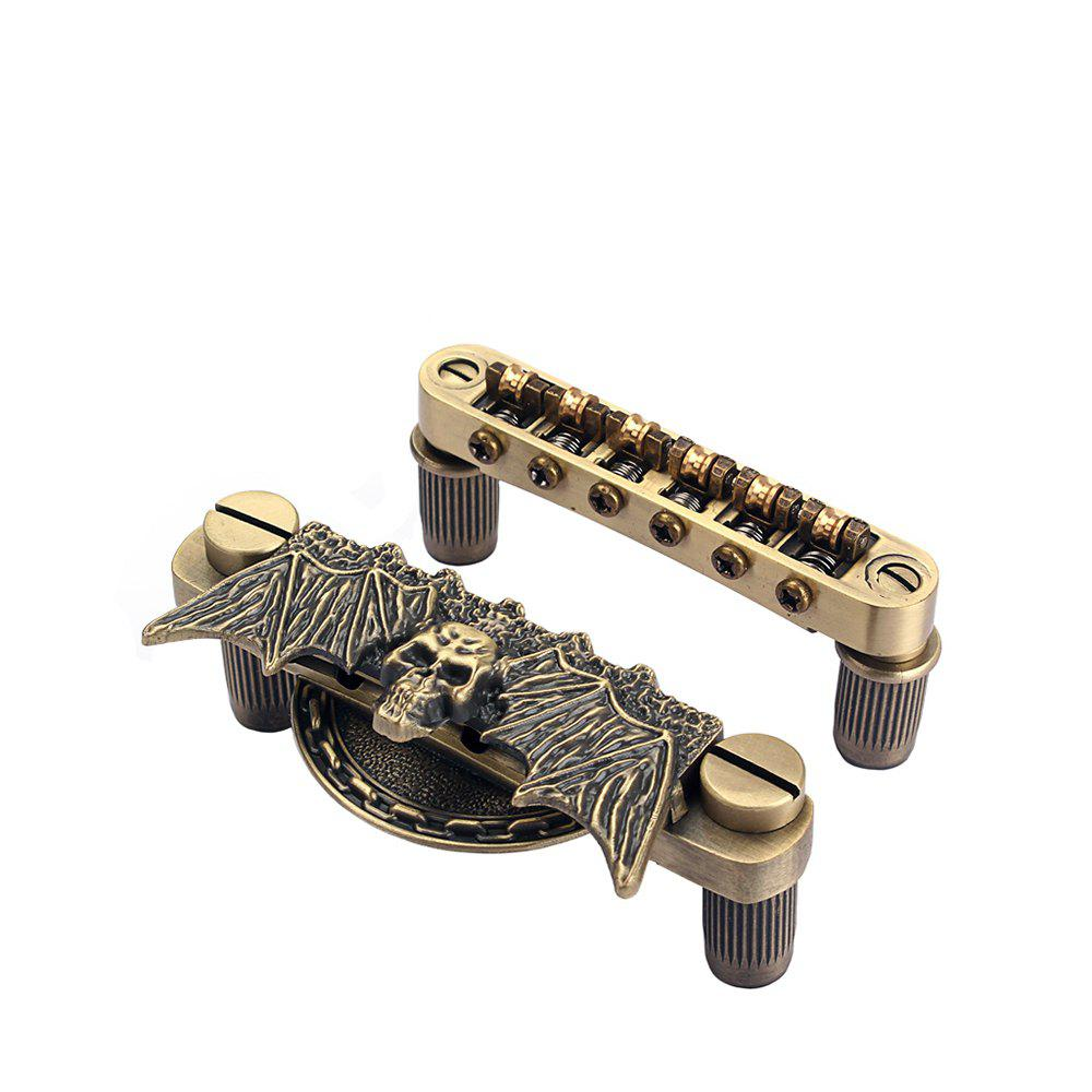 Guitar Roller Saddle Tune-o-matic + Bridge Tailpiece Set - BRONZE