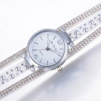 Fanteeda FD083 Women Fashion Wrapping wrist Watch - WHITE