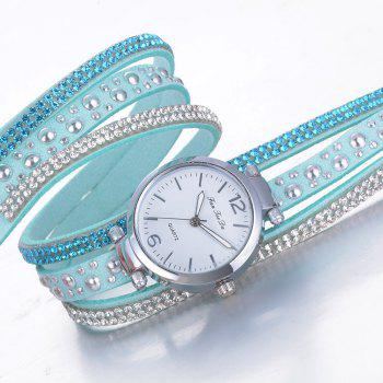 Fanteeda FD083 Women Fashion Wrapping wrist Watch - SKY BLUE
