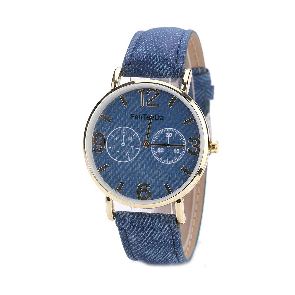 Fanteeda FD085 Women Fashion Round Case Quartz Watch - BLUE