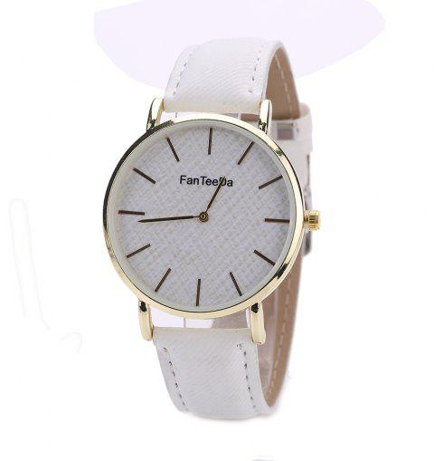 Fanteeda FD086 Women Fashion Round Case Quartz Watch - WHITE