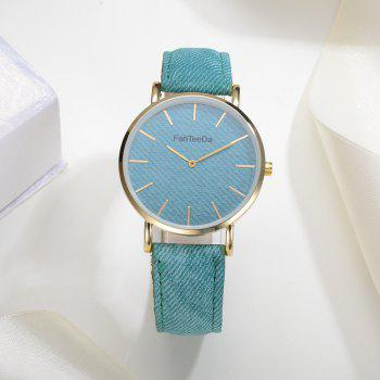 Fanteeda FD086 Women Fashion Round Case Quartz Watch - SKY BLUE