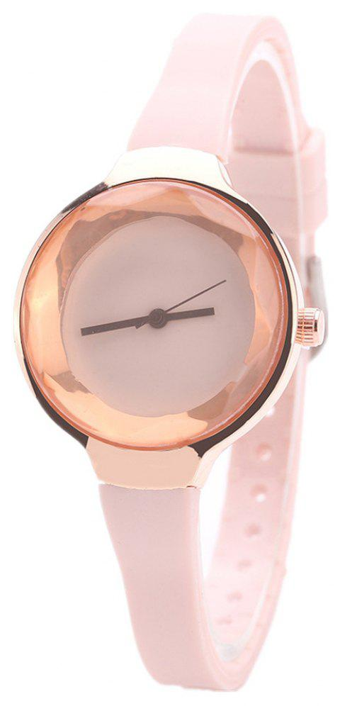 Fanteeda FD087 Women Simple Silicone Wrist Watch - PINK