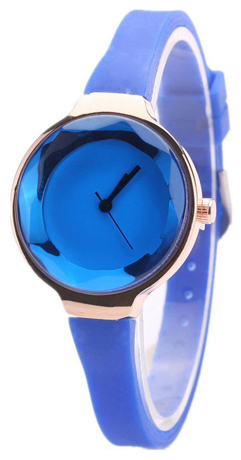 Fanteeda FD087 Women Simple Silicone Wrist Watch - BLUE
