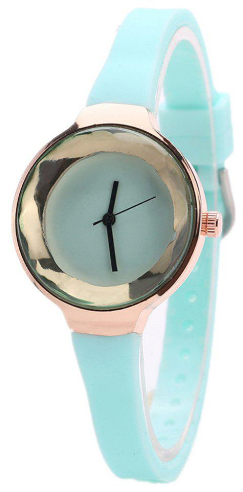 Fanteeda FD087 Women Simple Silicone Wrist Watch - SKYBLUE