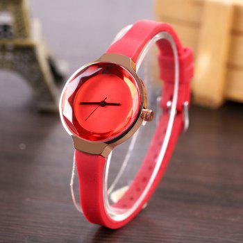 Fanteeda FD087 Women Simple Silicone Wrist Watch - RED