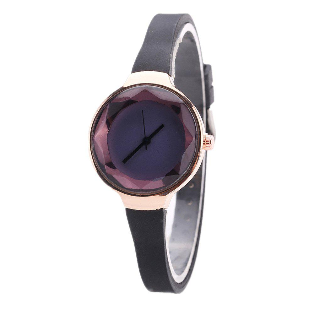 Fanteeda FD087 Women Simple Silicone Wrist Watch - BLACK