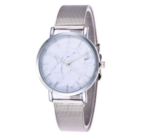 V5 Fashion Ultra-Thin Marble Personality Quartz Watch - SILVER