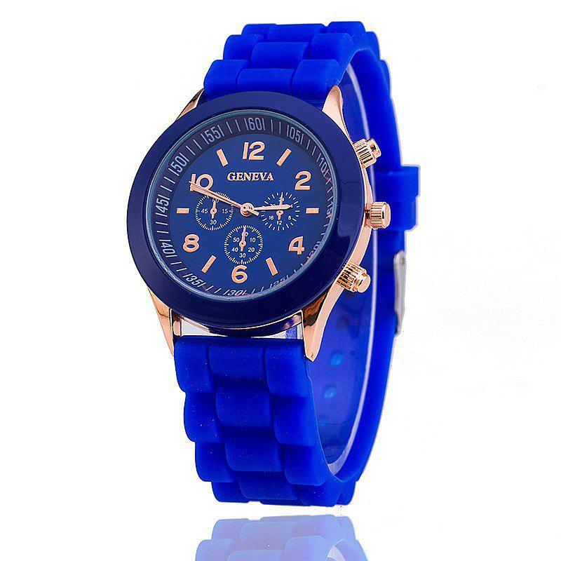 Geneva Female Fashion Quartz Watch - BLUE
