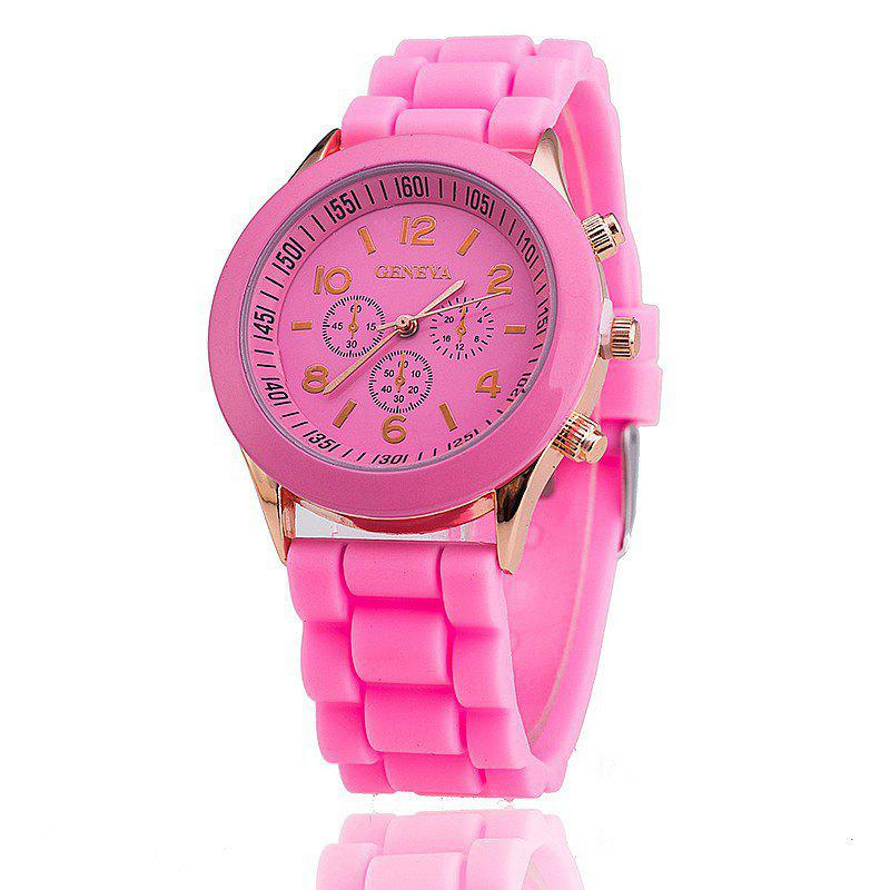 Geneva Female Fashion Quartz Watch - PINK