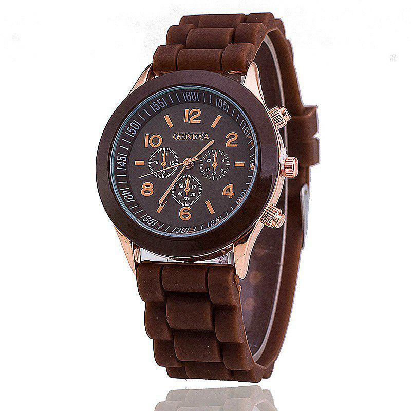 Geneva Female Fashion Quartz Watch - BROWN