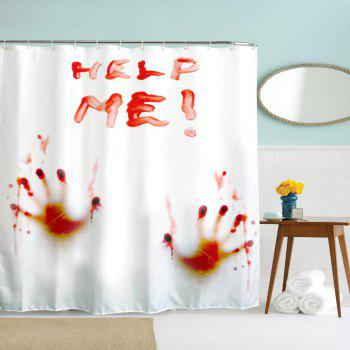 Blood Handprint Polyester Shower Curtain Bathroom  High Definition 3D Printing Water-Proof - COLORMIX W71 INCH * L79 INCH