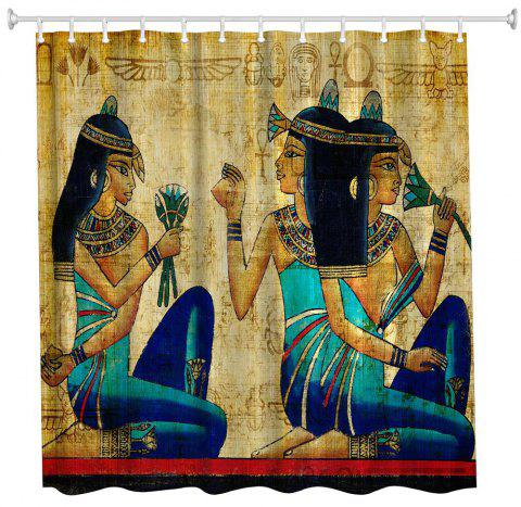 ancient egyptian women polyester shower curtain bathroom high definition 3d printing water proof colormix - Dresslily Shower Curtains