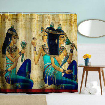 Ancient Egyptian Women Polyester Shower Curtain Bathroom  High Definition 3D Printing Water-Proof - COLORMIX W59 INCH * L71 INCH