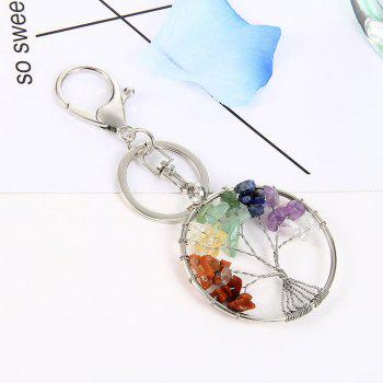 Fashion Jewelry Classic Style Characteristic Craft Wire Inlay Rhinestone Plant Tree Charm Key Chain for Women - COLOUR
