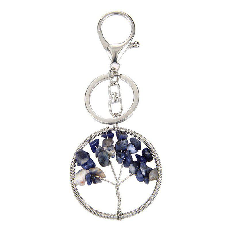 Fashion Jewelry Classic Style Characteristic Craft Wire Inlay Rhinestone Plant Tree Charm Key Chain for Women - PURPLE