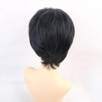 Human Hair Wigs Black Beautiful Fashion Short - BLACK