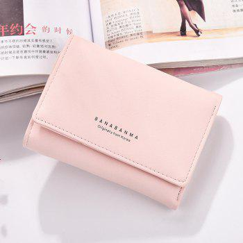 Nouveau Portefeuille Mesdames Simple Purse Three Fold - Rose Clair