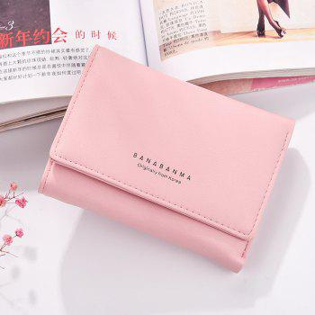 New Ladies Wallet Simple Purse Three Fold - PINK