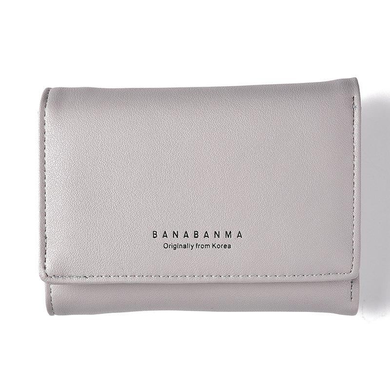 New Ladies Wallet Simple Purse Three Fold - GRAY