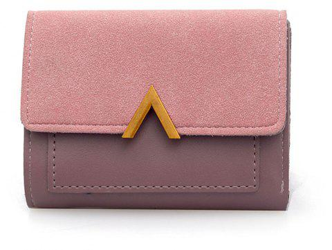 Female Short Compact Personality Wallet Students Simple Wallet - PINK