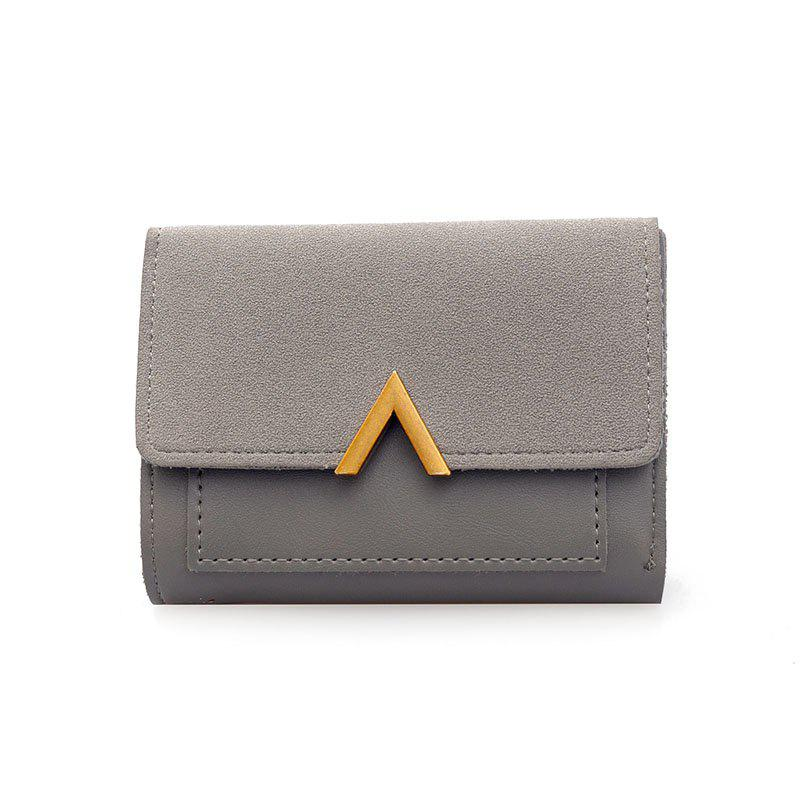 Female Short Compact Personality Wallet Students Simple Wallet - GRAY