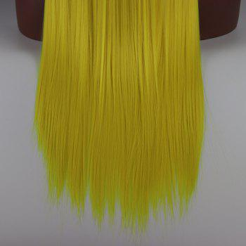 Yellow Long Straight Heat Resistant Synthetic Hair Lace Front Wigs for Women - YELLOW 16INCH
