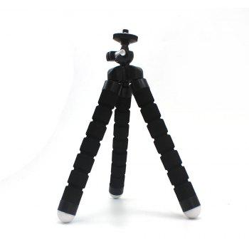 Mini Tripod Flexible Octopus Holder Stand Mount for iPhone Samsung Phone Camera - BLACK