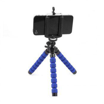Mini Tripod Flexible Octopus Holder Stand Mount for iPhone Samsung Phone Camera - BLUE