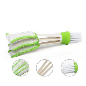 Dual-Head Car Air-Conditioning Cleaning Brush Keyboard Brush - GREEN