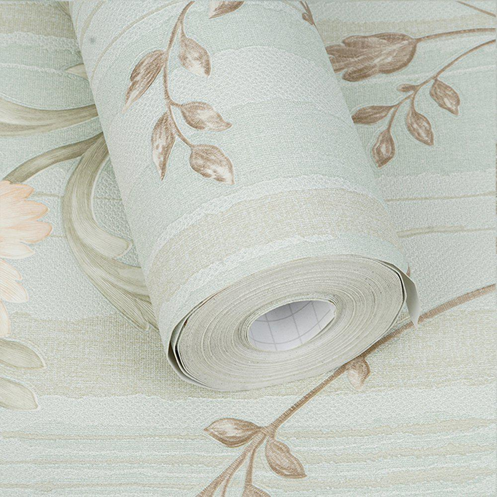 PVC Fashion Printing Home Decorating Wallpaper - LIGHT GRAY 1000X53CM