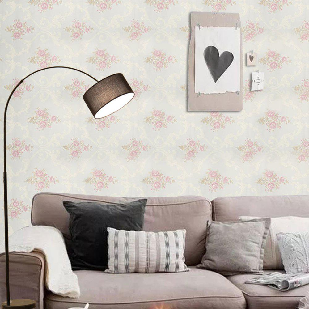 PVC Fashion Printing Home Decorating Wallpaper - WHITE 1000X53CM