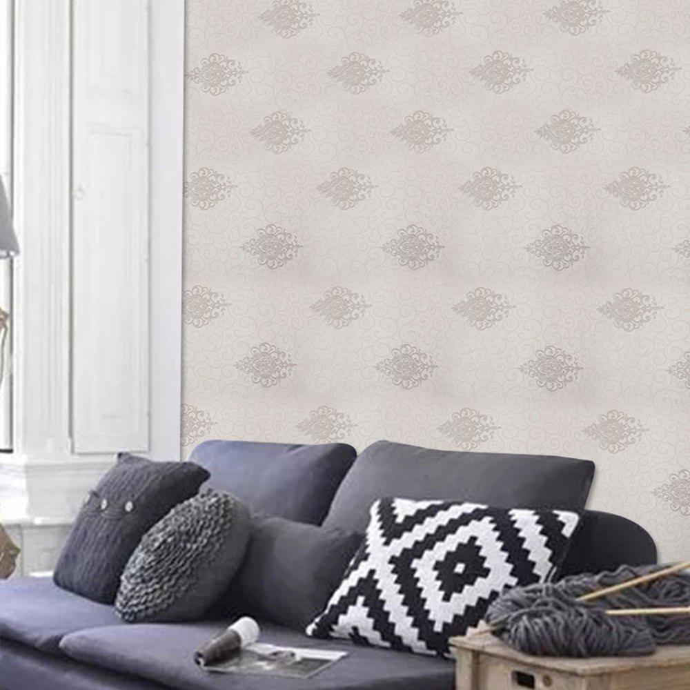 PVC Fashion Printing Home Decorating Wallpaper - GRAY 1000X53CM