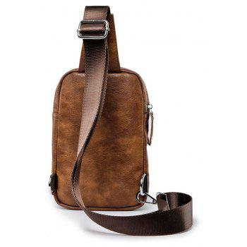 Vintage Camel Korean Unbalance Backpack Crossbody Bag Chest Pack - MOCHA