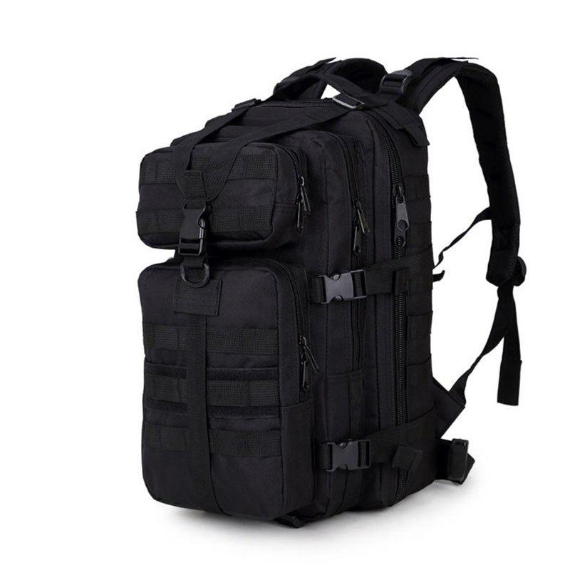 Increased Army Fans Outdoor Shoulders Backpack Bag - BLACK VERTICAL