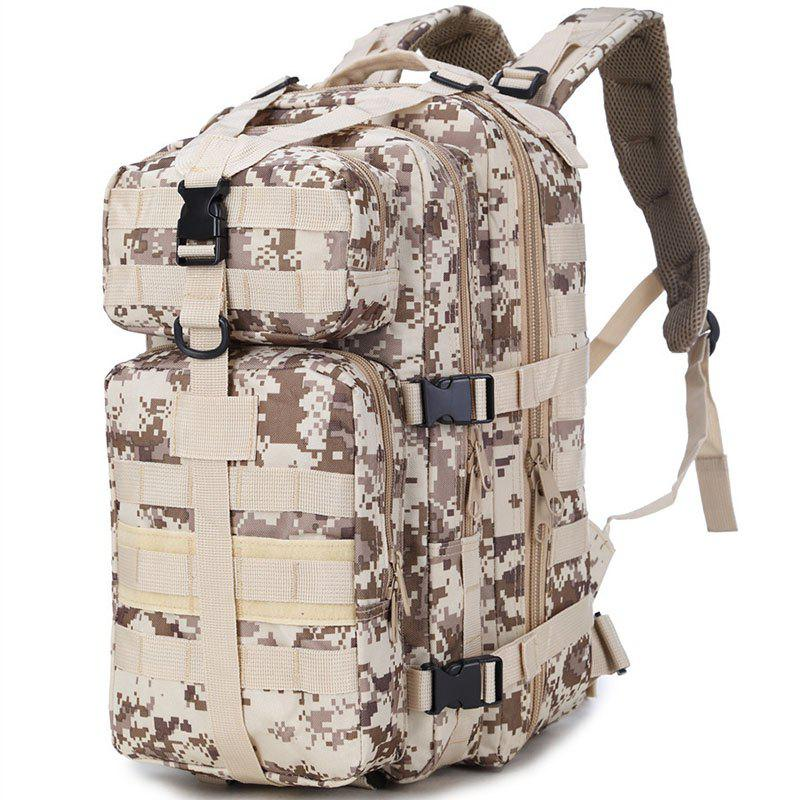 Increased Army Fans Outdoor Shoulders Backpack Bag - OFF WHITE / GREY VERTICAL